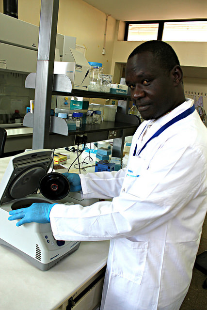 South Sudan scientist Richard Zozimo at the BecA-ILRI Hub