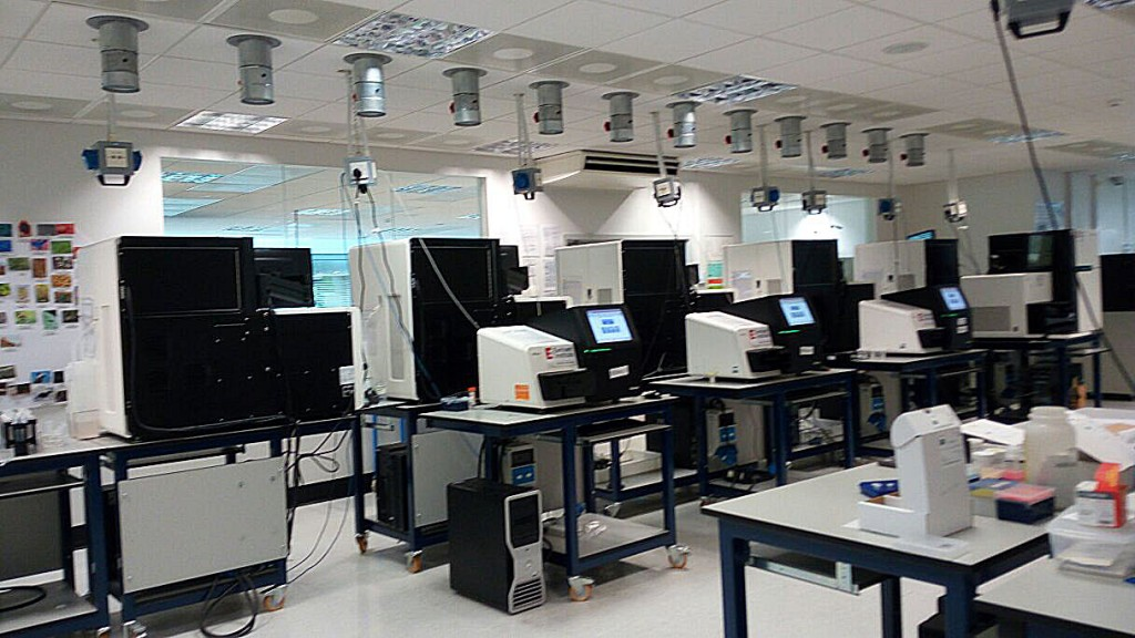 The bioinformatics lab at the Earlham Institute in Norwich, UK