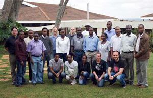 The course participants at ILRI, Kenya, May 9, 2008