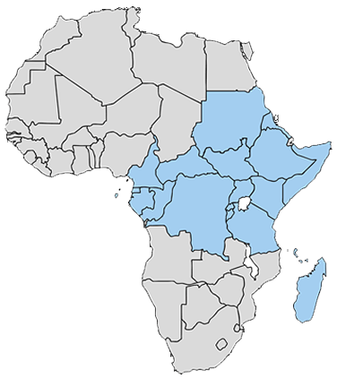 Africa Map with BecA countries